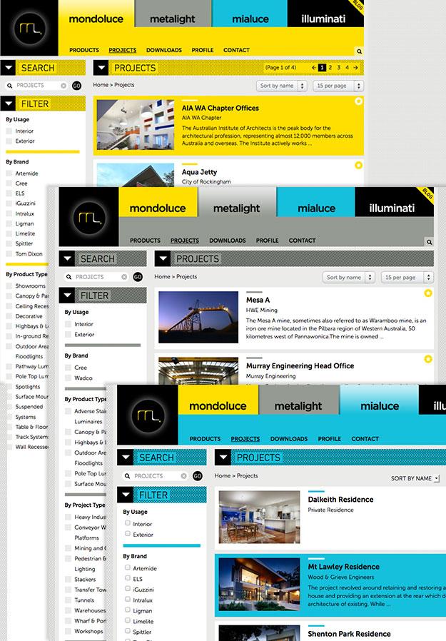 Mondoluce Metalight Mialuce brand sites