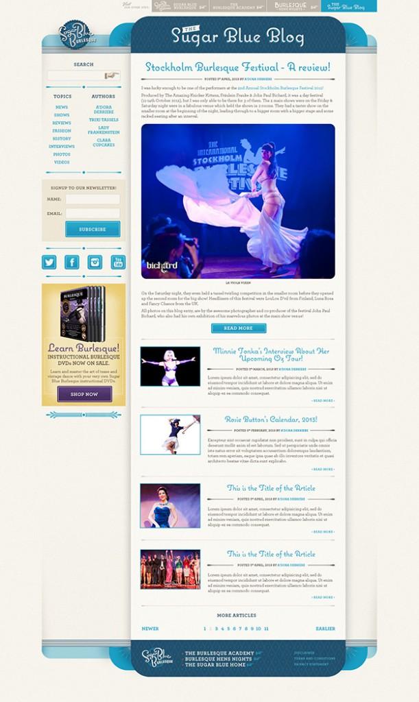 Sugar Blue Burlesque BLOG screenshot