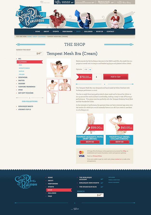 Sugar Blue Burlesque Shop screenshot