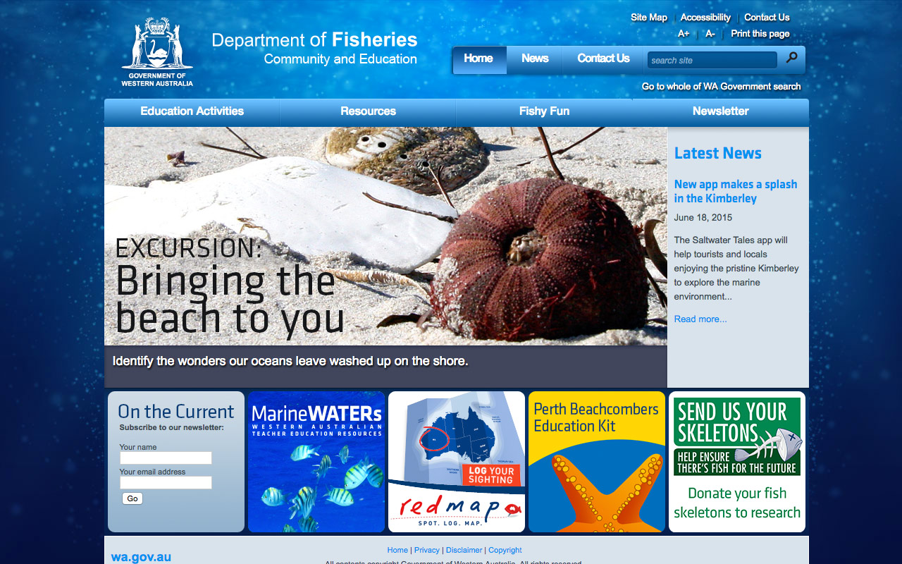 Naturaliste Marine Discovery Centre - Homepage - Site by Clever Starfish