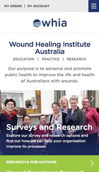 Wound Healing Institute Australia Website Mobile - By Clever Starfish