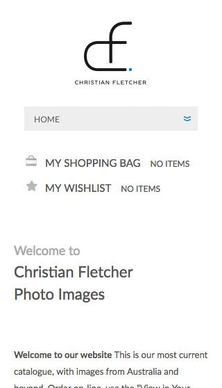 Christian Fletcher Website Homepage -Mobile - By Clever Starfish
