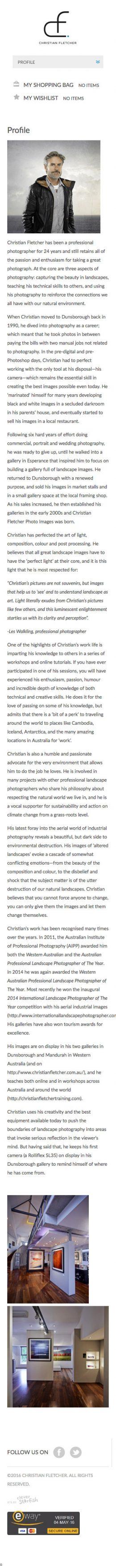 Christian Fletcher Online Profile - Mobile