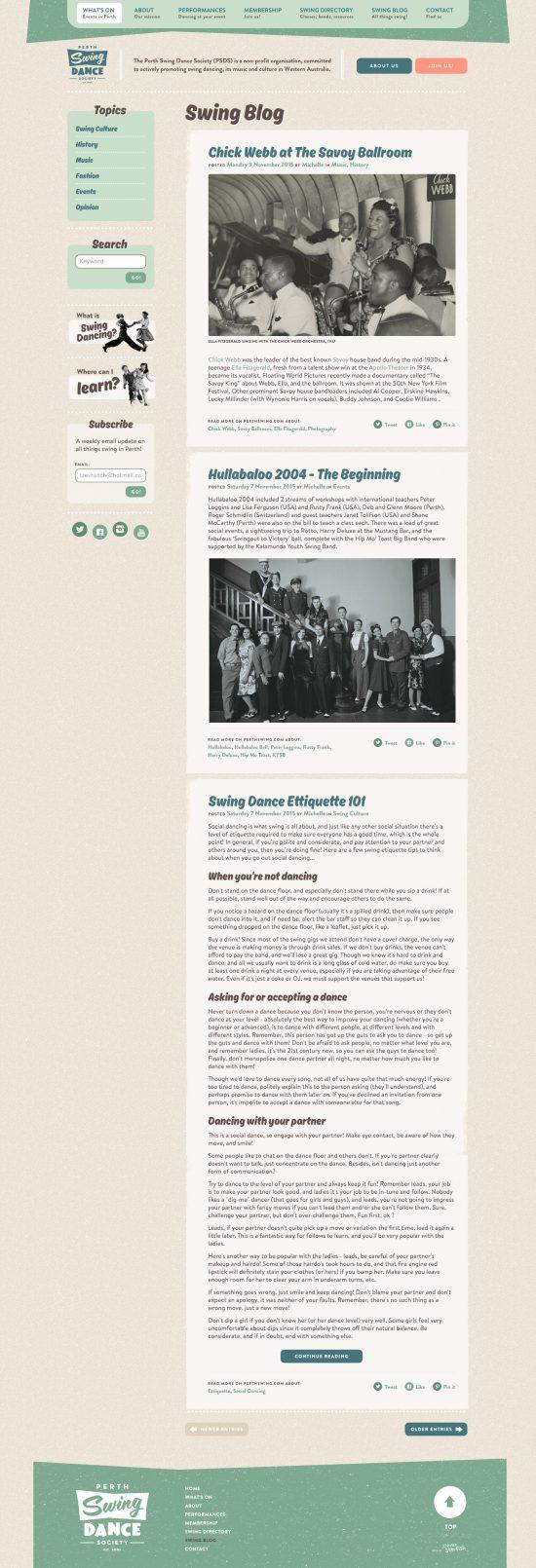 Perth Swing Blog