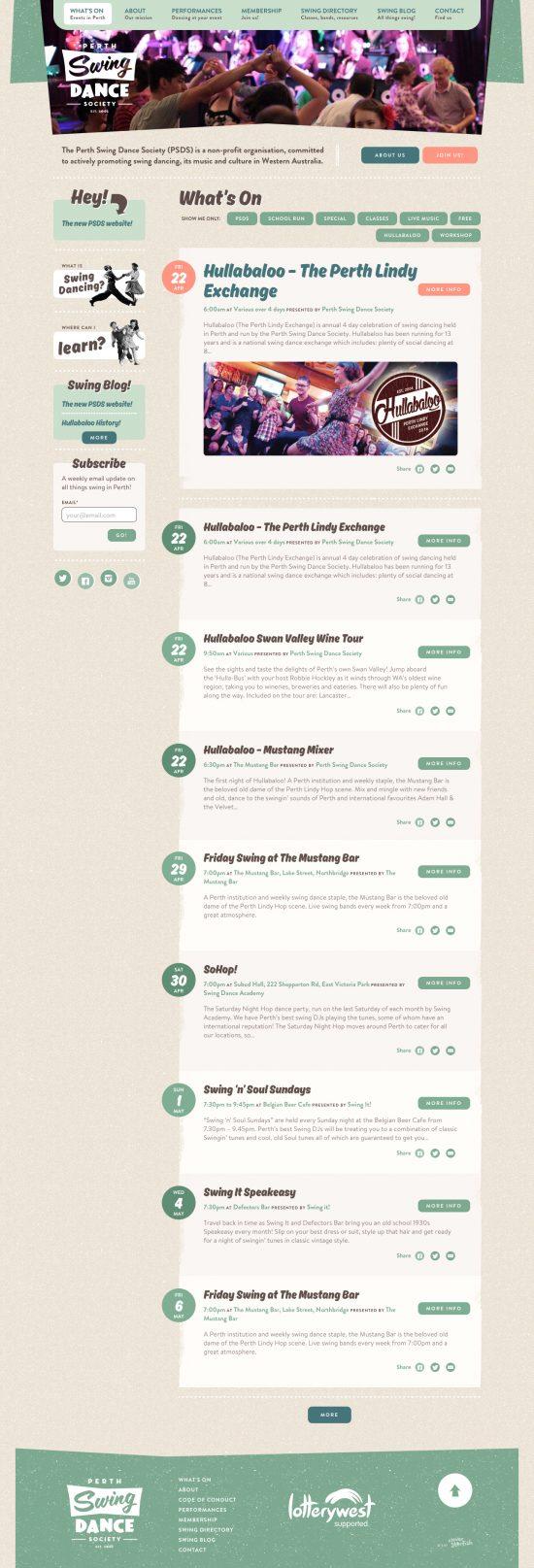Perth Swing website design