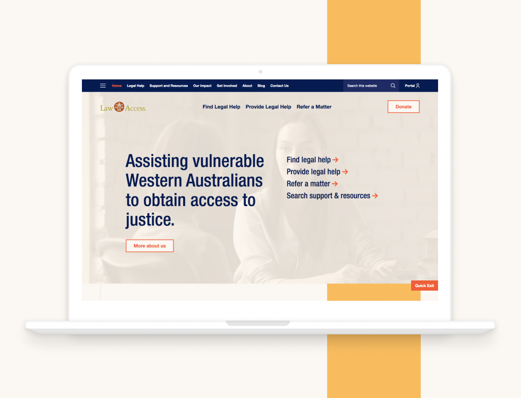 Clever Starfish launches not-for-profit website for Law Access